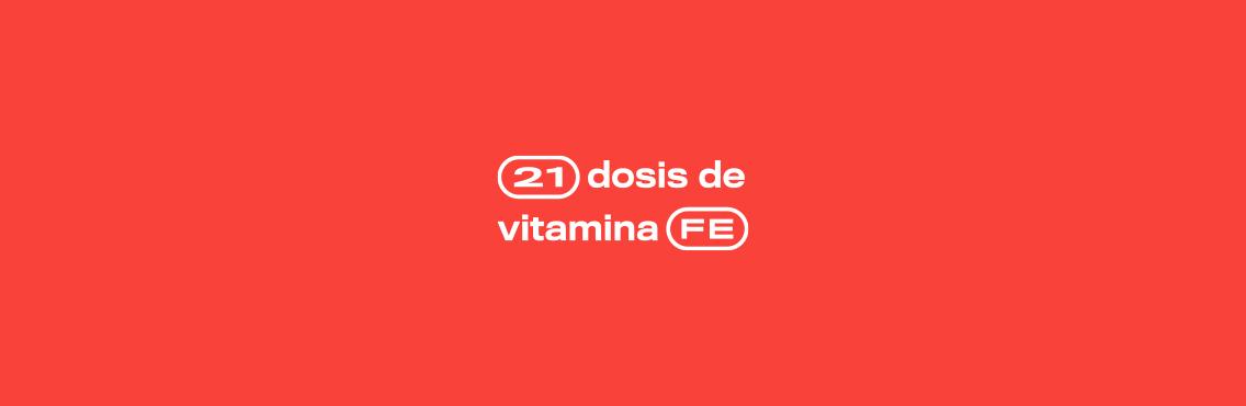21 dosis de vitamina fe