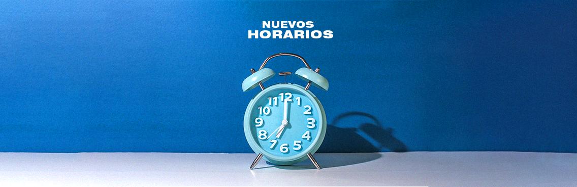 Nuevos horarios en servicios dominicales