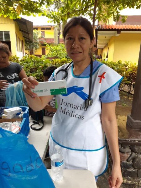 Voluntarios en jornadas médicas